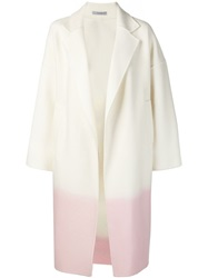 Dusan Two Tone Notched Collar Coat White