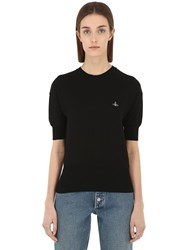 Vivienne Westwood Classic Cotton Knit Sweater Black