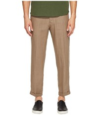 Vince Hemp Cropped Trousers Pebble Taupe Men's Casual Pants Tan