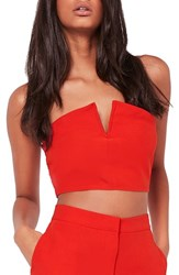 Missguided Women's Strapless Crop Top