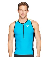Pearl Izumi Elite Pursuit Tri Singlet Aromic Blue Screaming Yellow Clothing