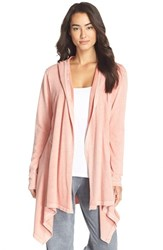 Women's Ugg Australia 'Ginnifer' Hooded Cardigan Crabapple