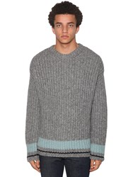 Dsquared Light Wool Jacquard Crewneck Sweater Grey
