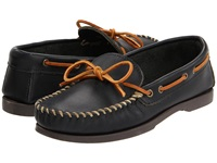 Minnetonka Camp Mocc Black Smooth Leather Men's Slippers