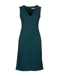Jil Sander Knee Length Dresses Emerald Green