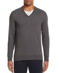 Bloomingdale's The Men's Store At Cotton V Neck Sweater 100 Exclusive Medium Heather Gray
