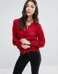 Raga Bewitched Boho Blouse Wine Red