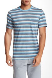 Slate And Stone Striped Crew Neck Tee Blue
