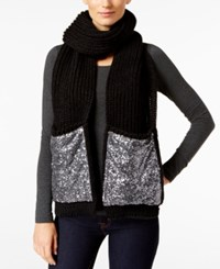 Inc International Concepts Knit Sequined Pocket Scarf Only At Macy's Black