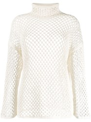 Agnona Mesh Construction Knitted Top 60