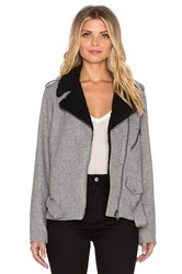 Lucca Couture Moto Jacket Gray