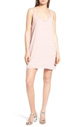 Women's Bp. Textured Stripe Slipdress Dusty Rose