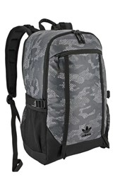 Adidas Men's Originals 'Create Plus' Backpack Grey Prime Camo Grey Black Grey