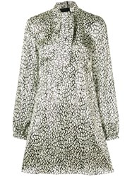 Saint Laurent Leopard Print Dress Nude And Neutrals