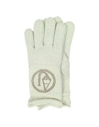 Armani Jeans Signature Wool Blend Gloves Beige