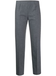 Piazza Sempione Cropped Checked Trousers Grey