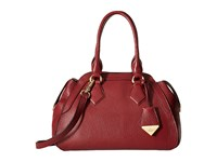 Vivienne Westwood Kensginton Medium Yasmine Bordeaux Satchel Handbags Burgundy