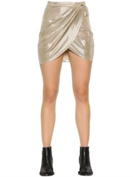 Just Cavalli Laminated Jersey Crossover Skirt