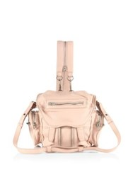 Alexander Wang Mini Marti Convertible Leather Backpack Pale Pink