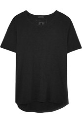 Atm Anthony Thomas Melillo Boyfriend Slub Cotton Jersey T Shirt Black