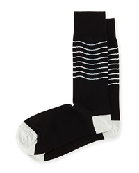 Joe's Jeans Joe's Thin Stripe Knit Socks Black Gray