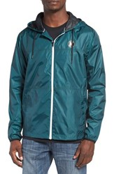 Hurley Men's 'Blocked' Ripstop Hooded Zip Jacket Rio Teal