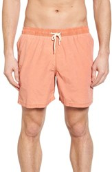Barbour Victor Swim Trunks Burnt Orange