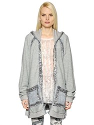 Faith Connexion Reversible Sequined French Terry Jacket
