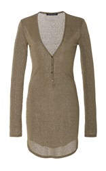Marissa Webb Alexis Knit Henley Neutral