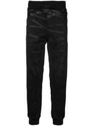 Philipp Plein Xyz Skull And Track Trousers Black