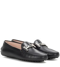 Tod's Gommini Leather Loafers Black