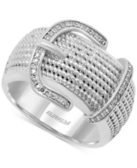 Effy Collection Effy Balissima Diamond Buckle Ring 1 6 Ct. T.W. In Sterling Silver
