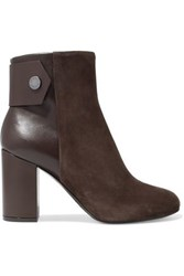 Belstaff Leather And Suede Ankle Boots Chocolate