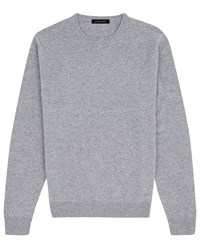 Jaeger Cashmere Crew Neck Sweater Mid Grey Marl