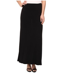 Kensie Light Weight Viscose Spandex Maxi Skirt Ks9k6s02 Black Women's Skirt