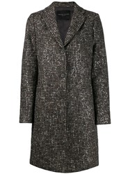 Fabiana Filippi Single Breasted Fitted Coat Brown