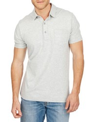 Lucky Brand Resort Cotton Polo Shirt Light Grey