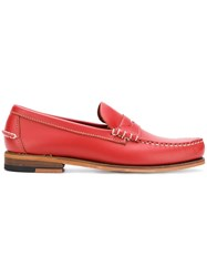 Sebago Penny Loafers Red