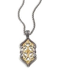 Konstantino Hebe 18K Yellow Gold And Sterling Silver Pendant Silver Gold