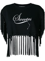 Marco Bologna Sweetest Fringe Crop Top Black