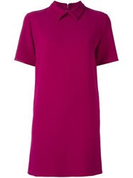 P.A.R.O.S.H. Classic Collar Shortsleeved Dress Pink And Purple