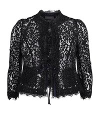 Basler Fringe Lace Jacket Female Blue