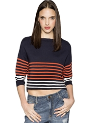 Pixie Market Navy Striped Sweater