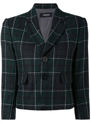 Dsquared2 Tartan Check Cropped Blazer Women Cotton Polyamide Polyester Wool 44 Green