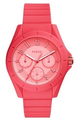 Fossil Women's Poptastic Silicone Strap Watch 38Mm