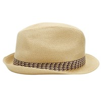 Ted Baker Hatz Contrast Band Trilby Natural