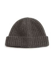 Portolano Cashmere Knit Hat Grey