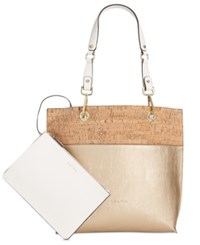 Calvin Klein Sonoma Novelty Tote With Pouch Pale Gold Cork