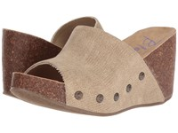Blowfish Host Desert Sand Rancher Canvas Women's Wedge Shoes Beige