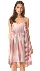 The Great Great. Terrace Dress Red And White Stripe